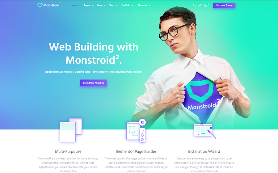 Monstroid2 - Multipurpose Modular Elementor WordPress Theme WordPress Theme