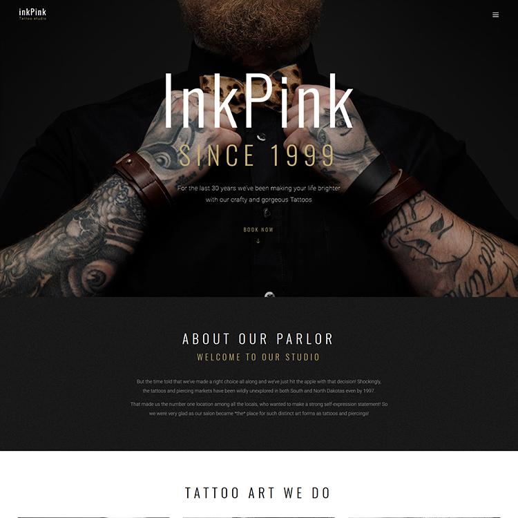 Tattoo Studio WordPress Theme