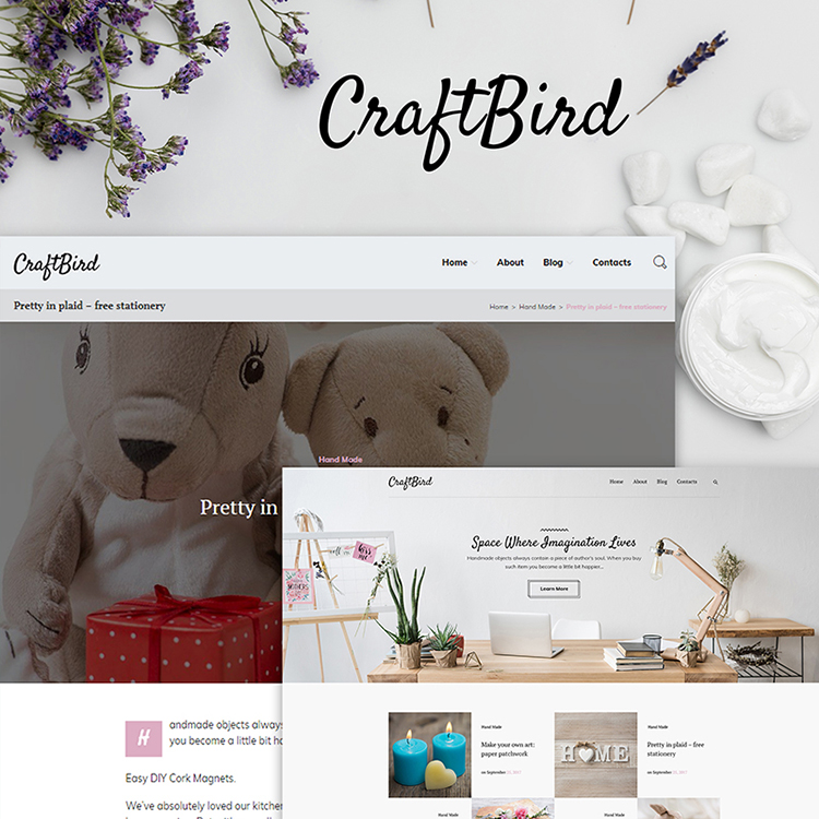 Handmade Artist Personal Blog WordPress Theme