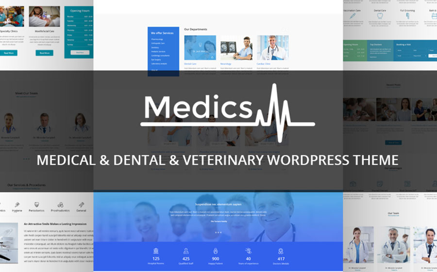 Medics - Medical & Dental & Veterinary WordPress Theme