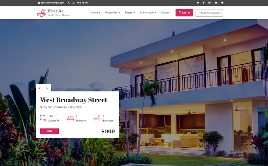 Homelist - Real Estate WordPress Theme