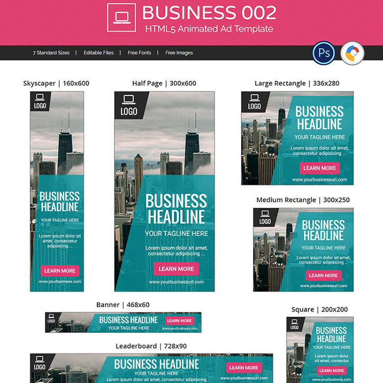 Business 002 - HTML5 Ad Animated Banner