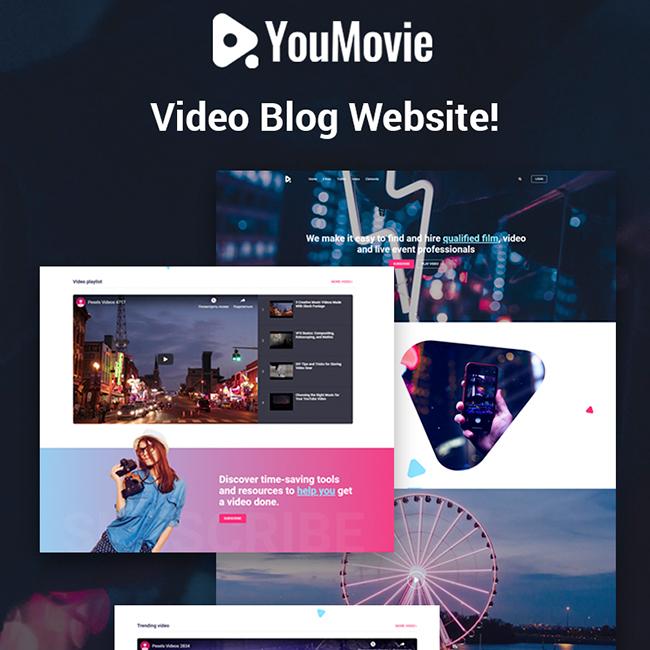 YouMovie - Videography Elementor WordPress Theme