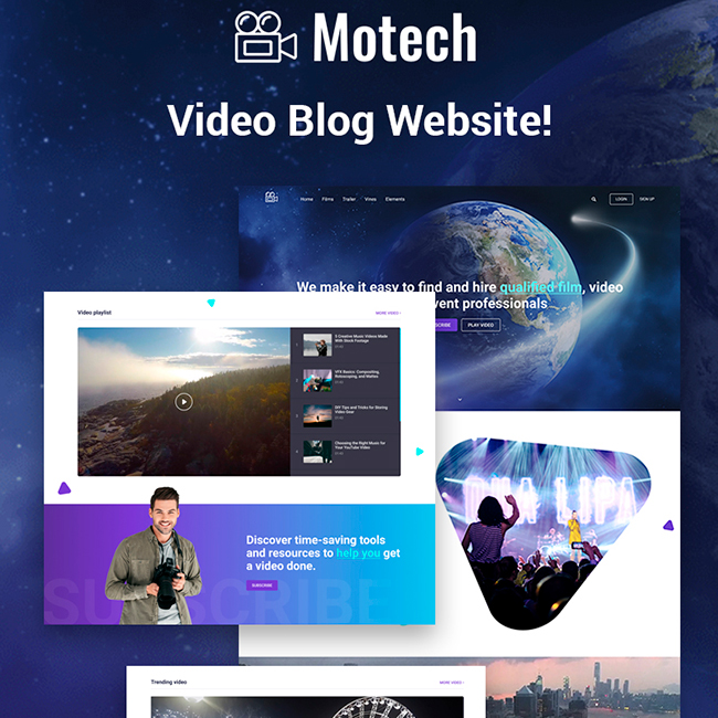Motech - Video Agency Multipurpose Creative Elementor WordPress Theme