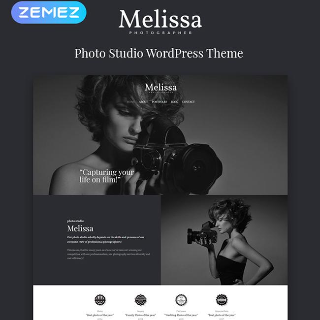 Melissa - Photography Multipurpose Creative Elementor WordPress Theme