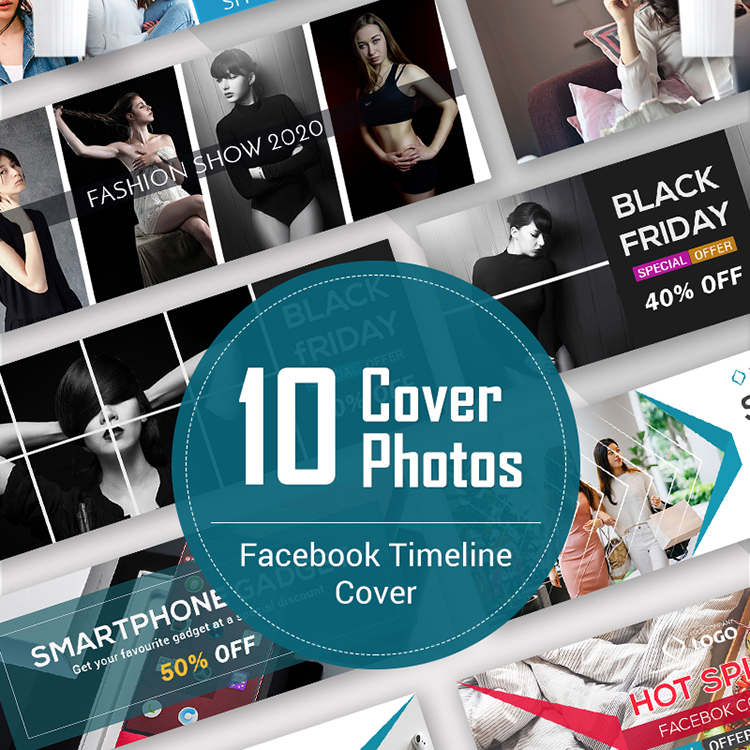 10 Facebook Timeline Cover Bundle Social Media