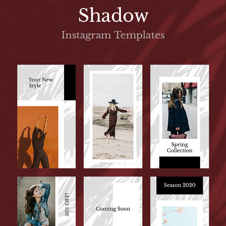 Shadow Instagram Templates Social Media