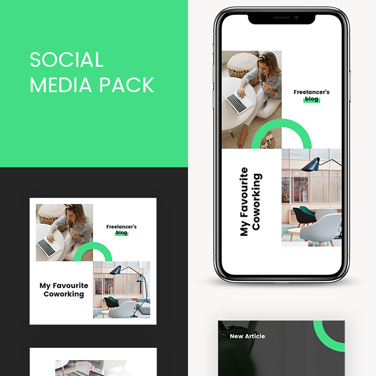 Freelancer Instagram Templates Social Media