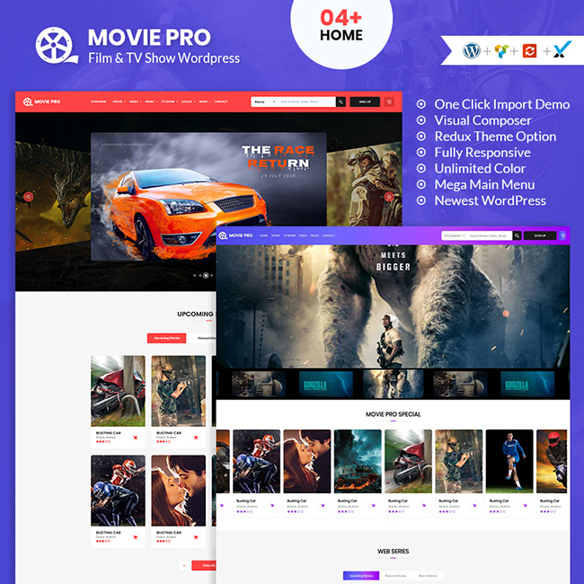 Movie Pro Film, Video and TV Show WordPress Theme