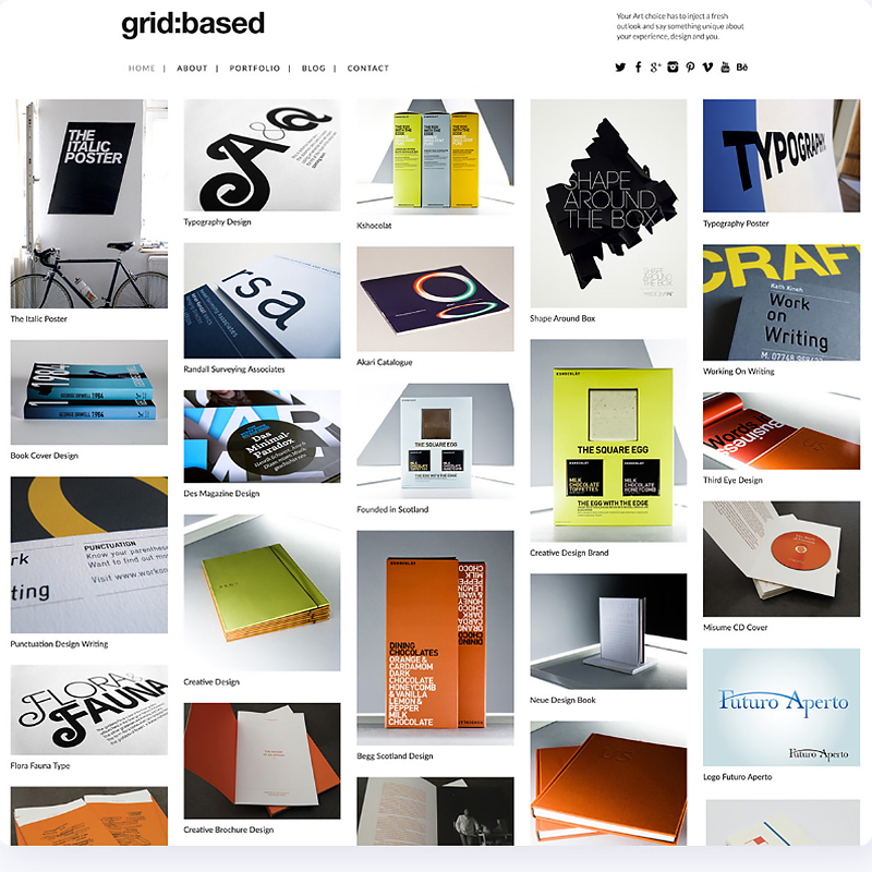 Grid Based WordPress Theme Fullscreen