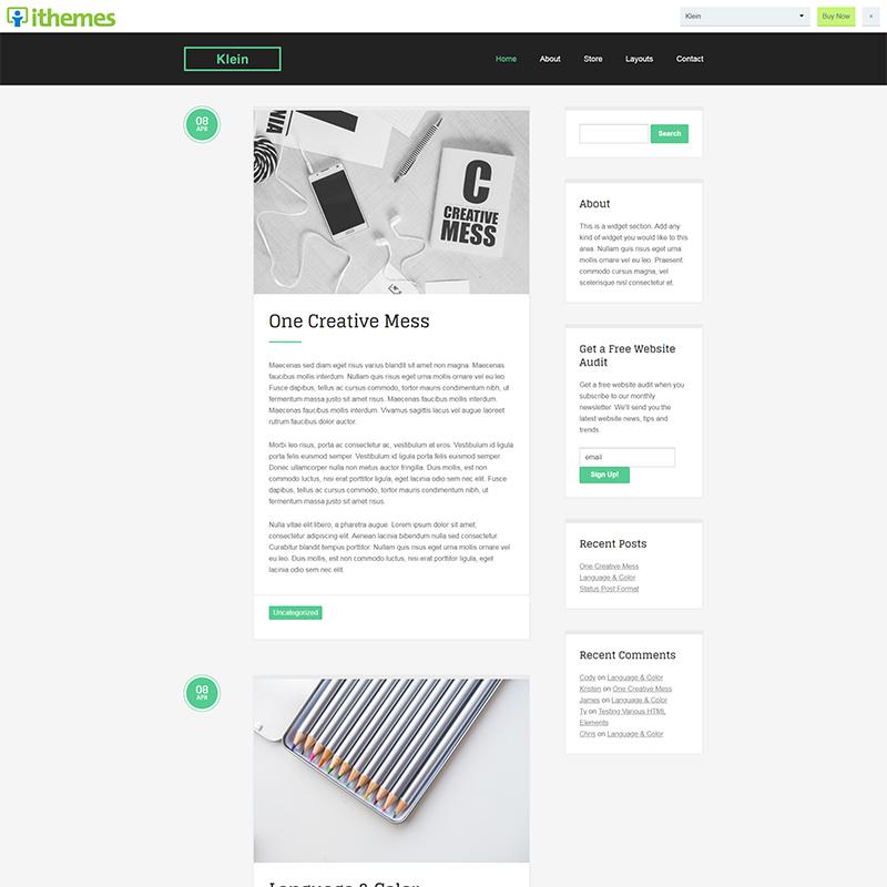Klein – iTheme builder